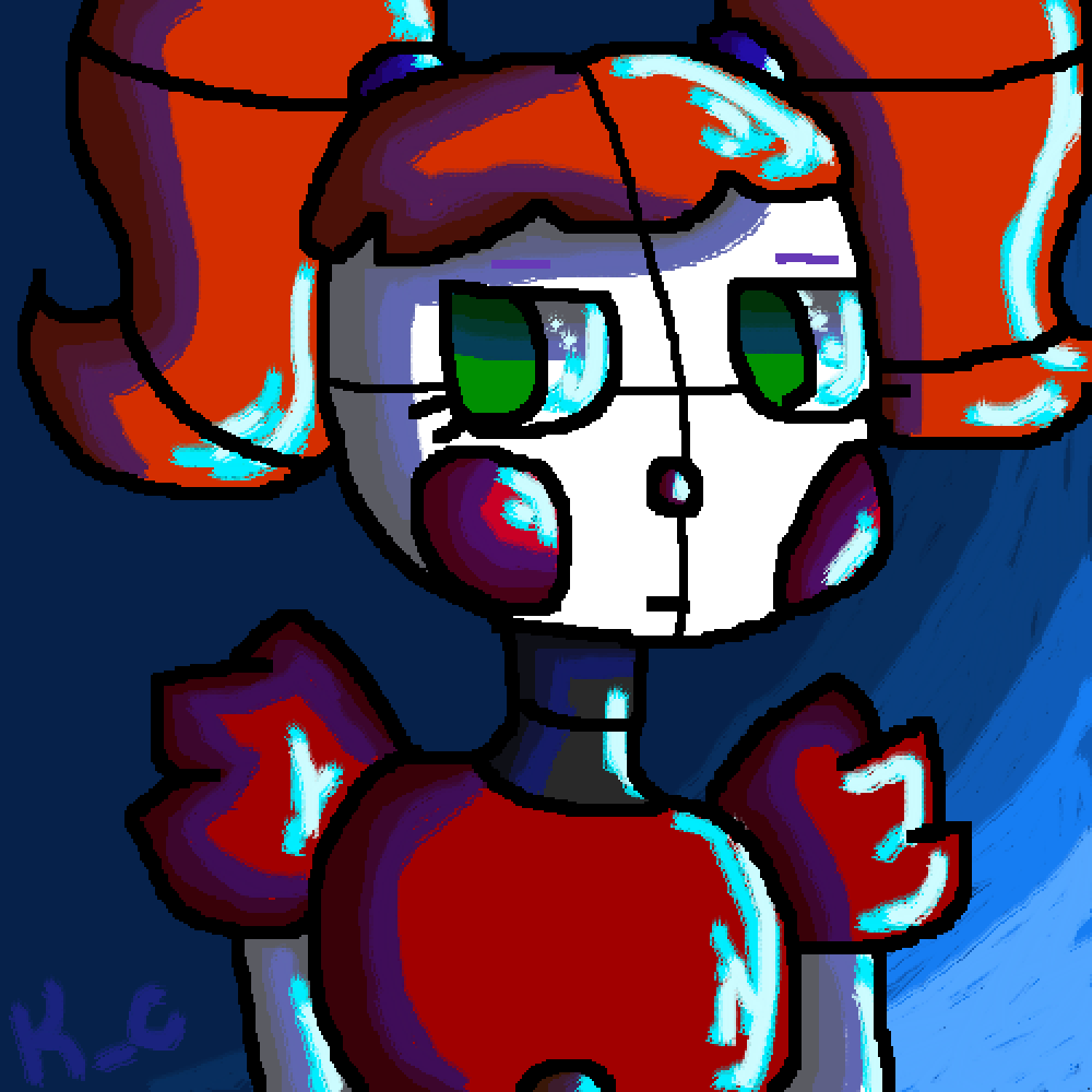 Circus Baby drawing because yes by KatieCoco