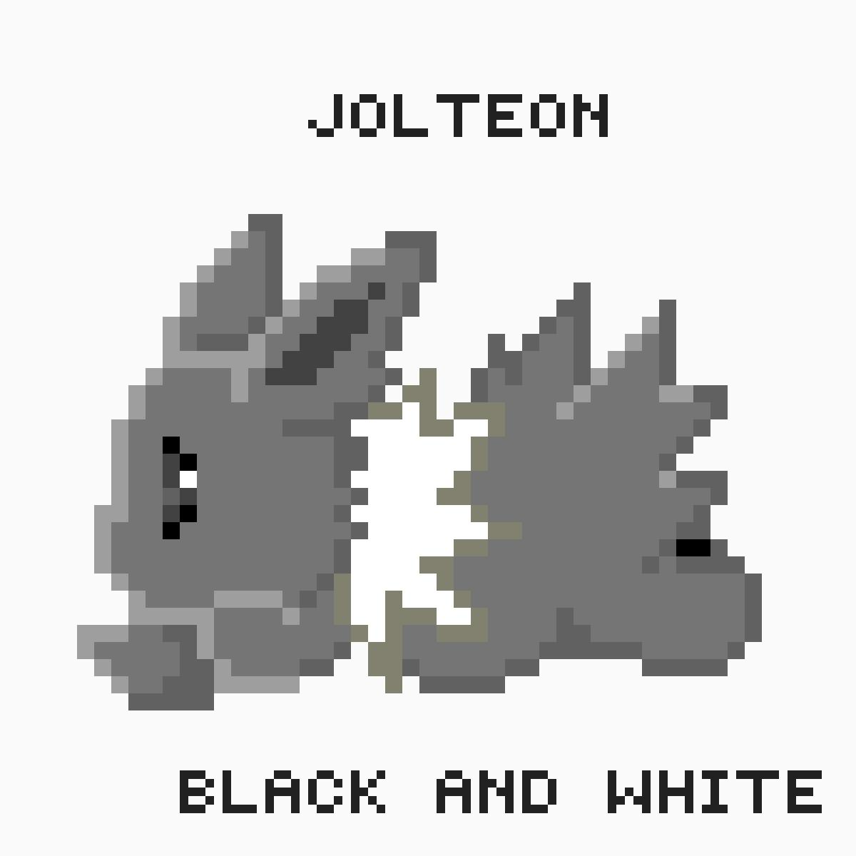 Black and white jolteon by Heihei