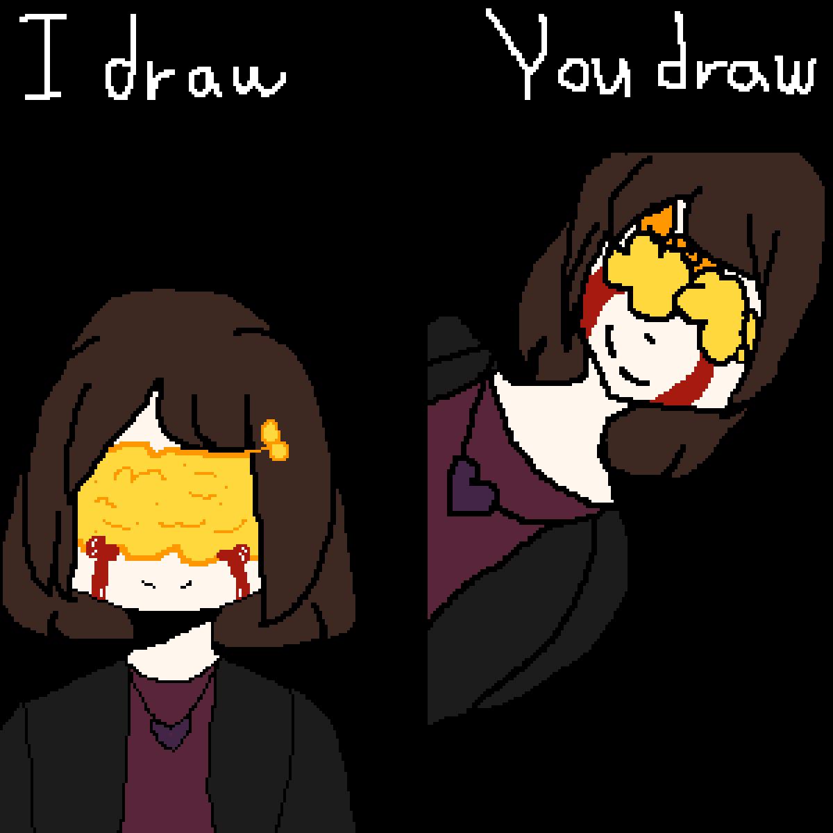 You drew,i drew by Rainbows4ever4u