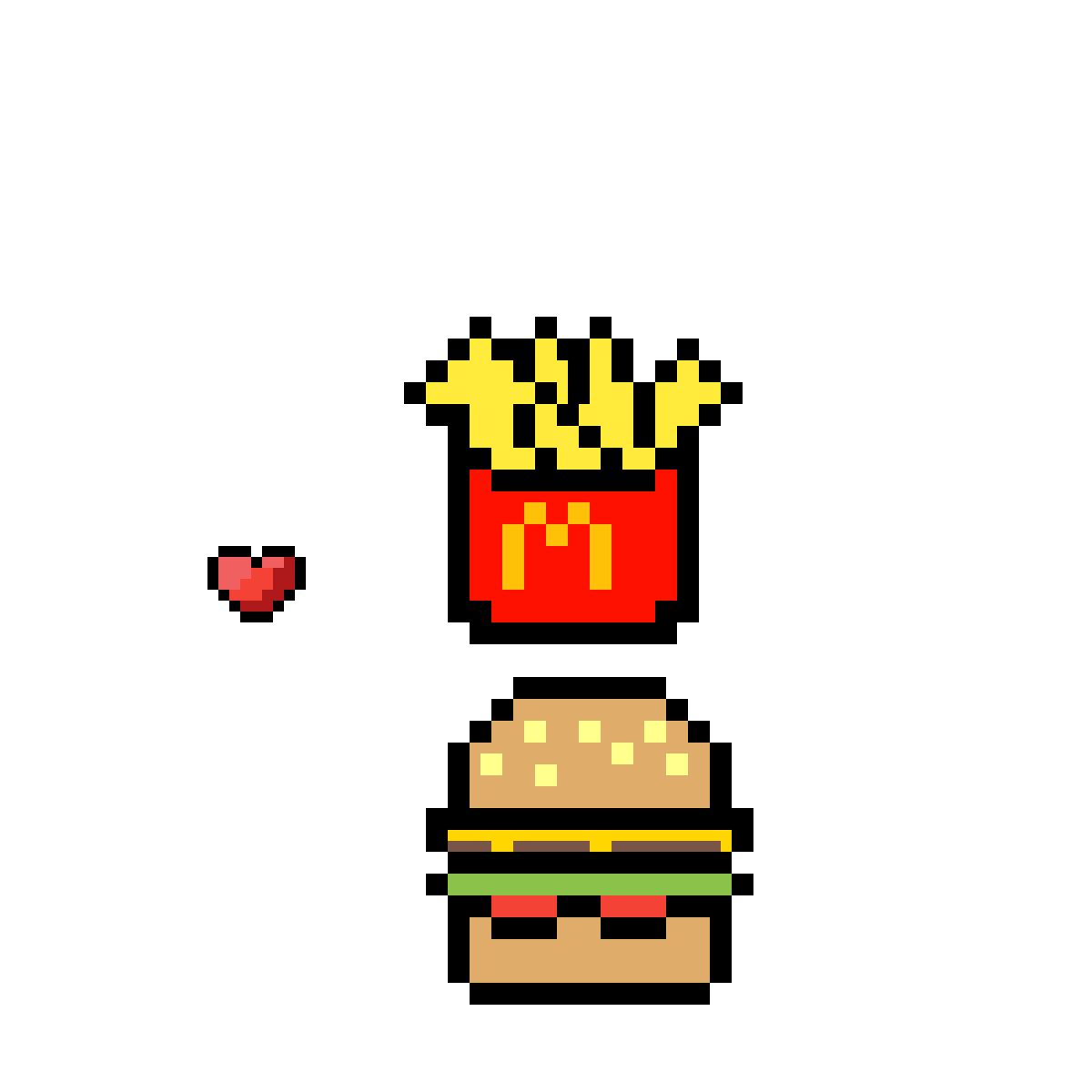Pixilart Mcdonalds Burger And Fries By Kawaii Goth8104