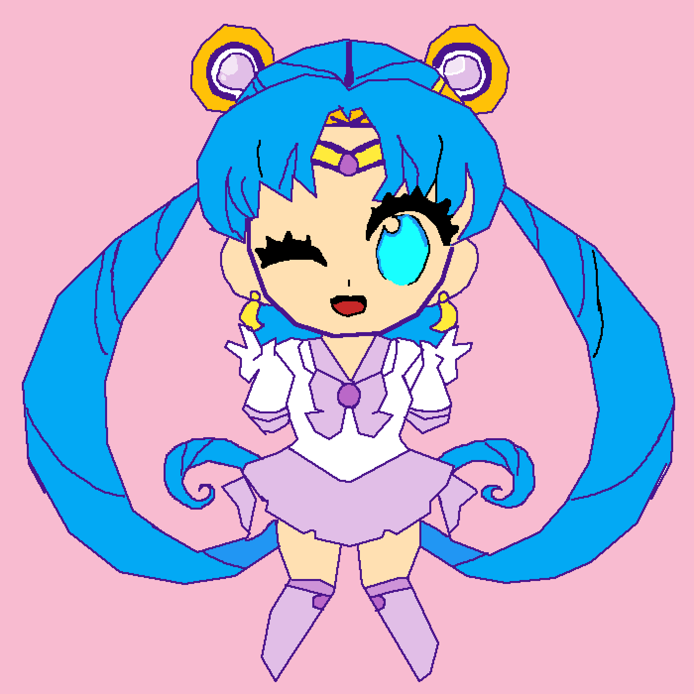 my oc as a sailor moon character  by Wolfgirl16