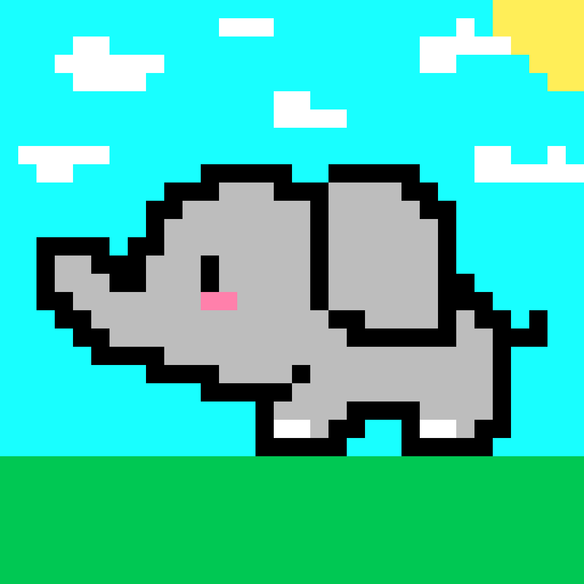 Cute Little Elephant! $W$ by JORDYNDEMEO