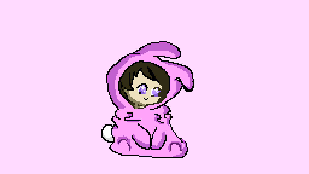 pixilart kawaii bunny girl by roniaart