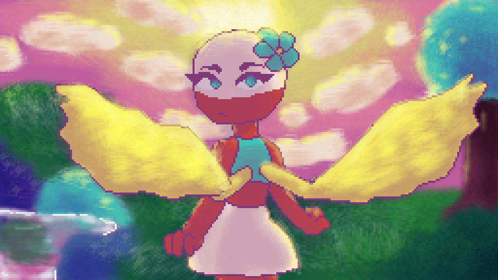 the sun shines bright, but she shines brighter by twigdraws