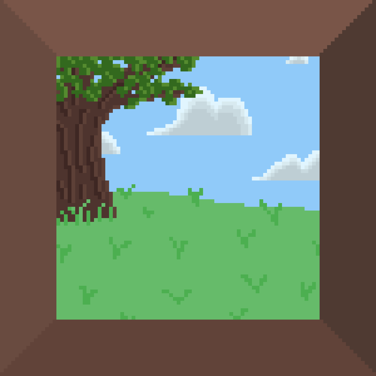 Tree On The Hill by Floof