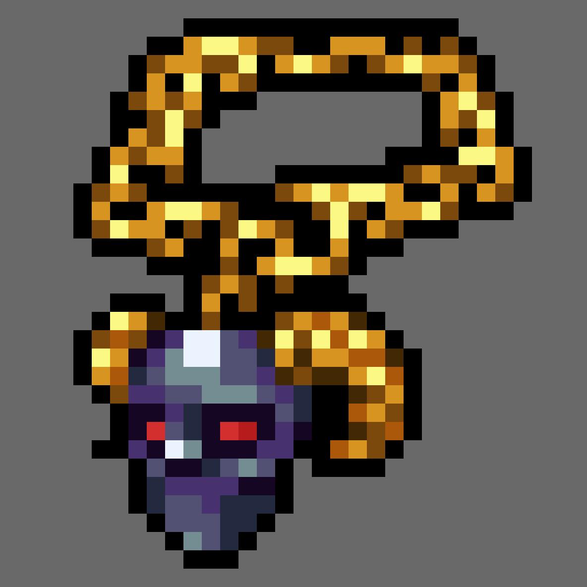 Demon Necklace by LemonCurdleArt