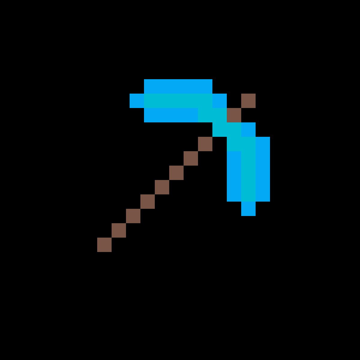 Pixilart - minecraft diamond pickaxe by ...