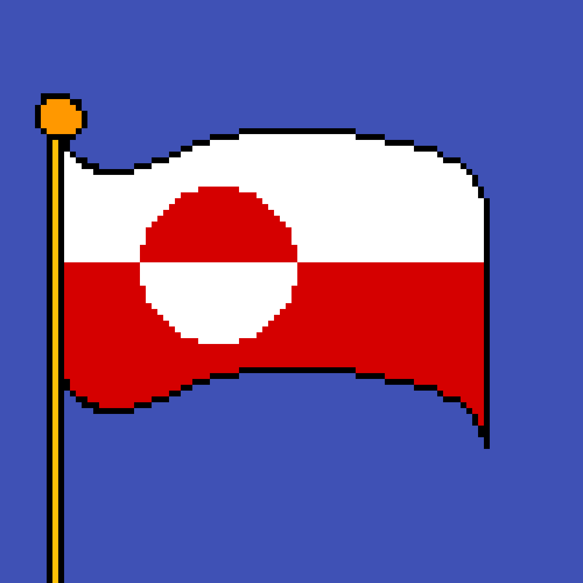 The flag of Greenland by poison-darts317