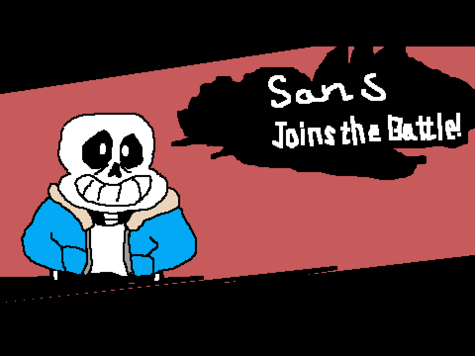 Sans joins the battle by RebelBiscuit546