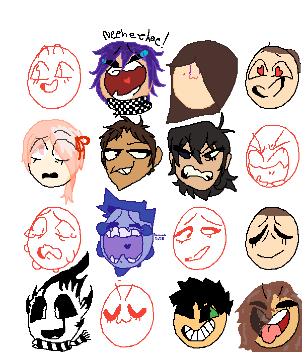 Faces (add your own) by FlameSteven