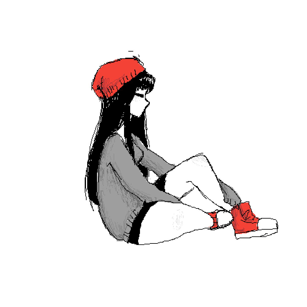 Red beanie by Niffry