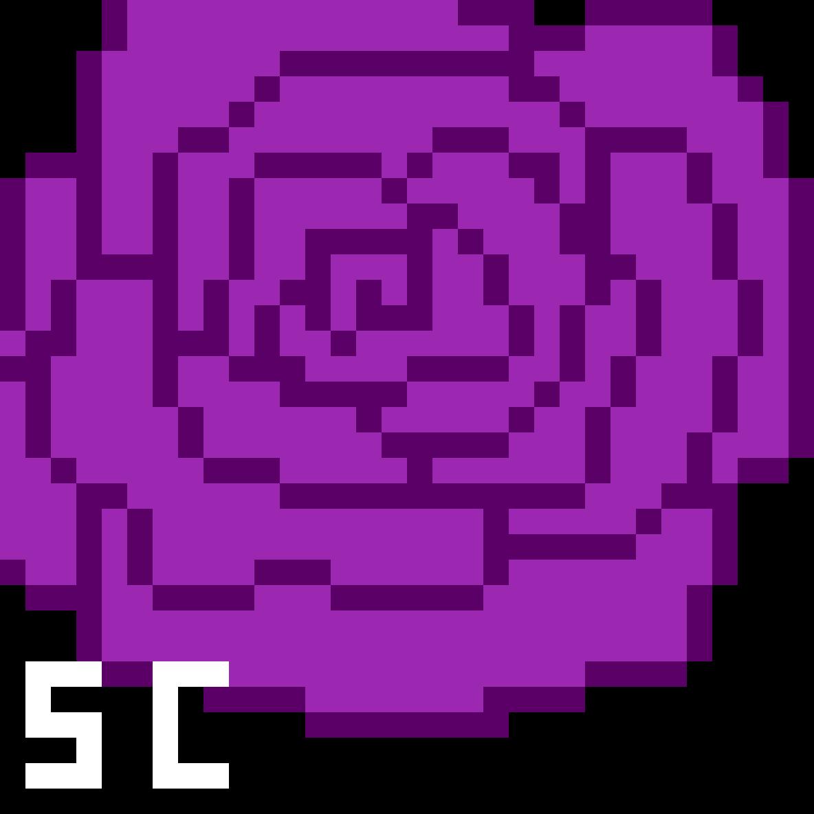 Wine Purple Pixel Rose By SeCreative