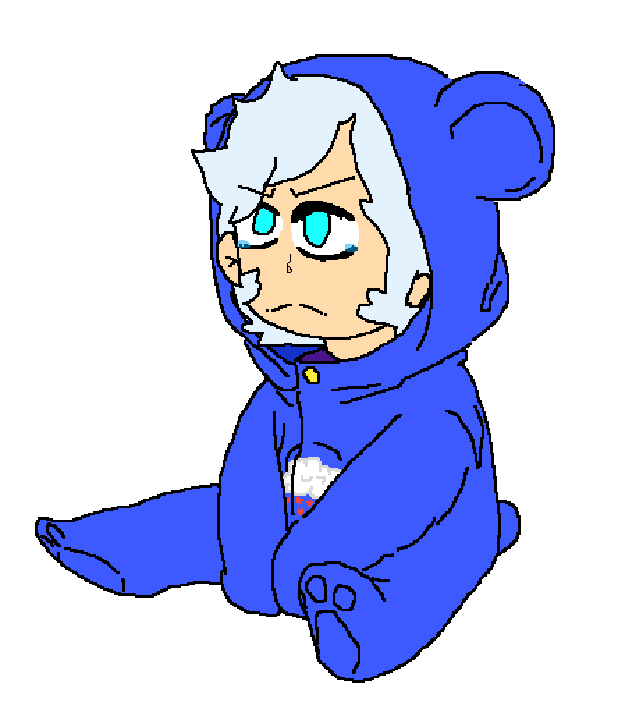 mikey as a grumpy baby by OCs-Galore2