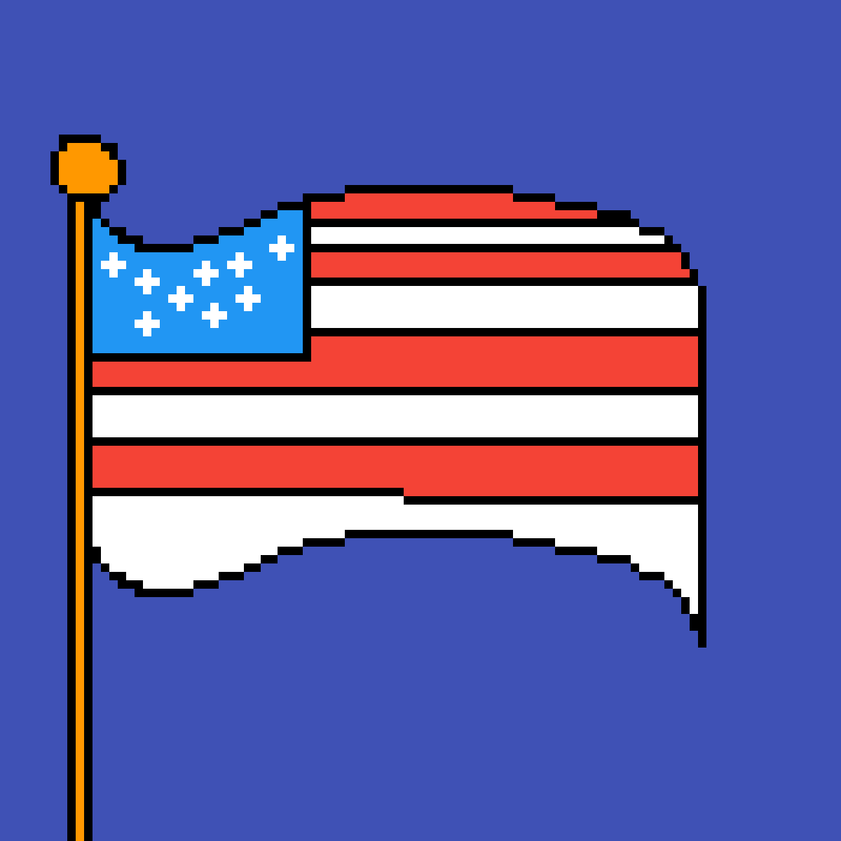 the american flag  by Pinkunicorn