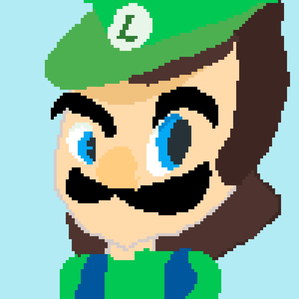 Pixilart The Luigi Death Stare By Pokemon Rules