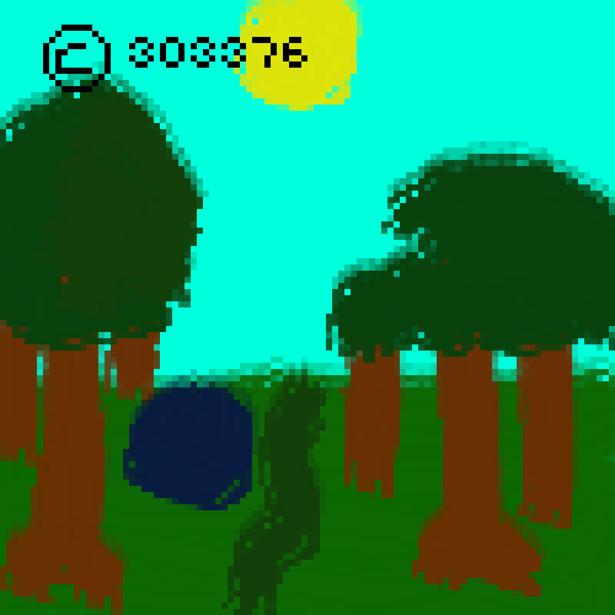 a quiet forest scene