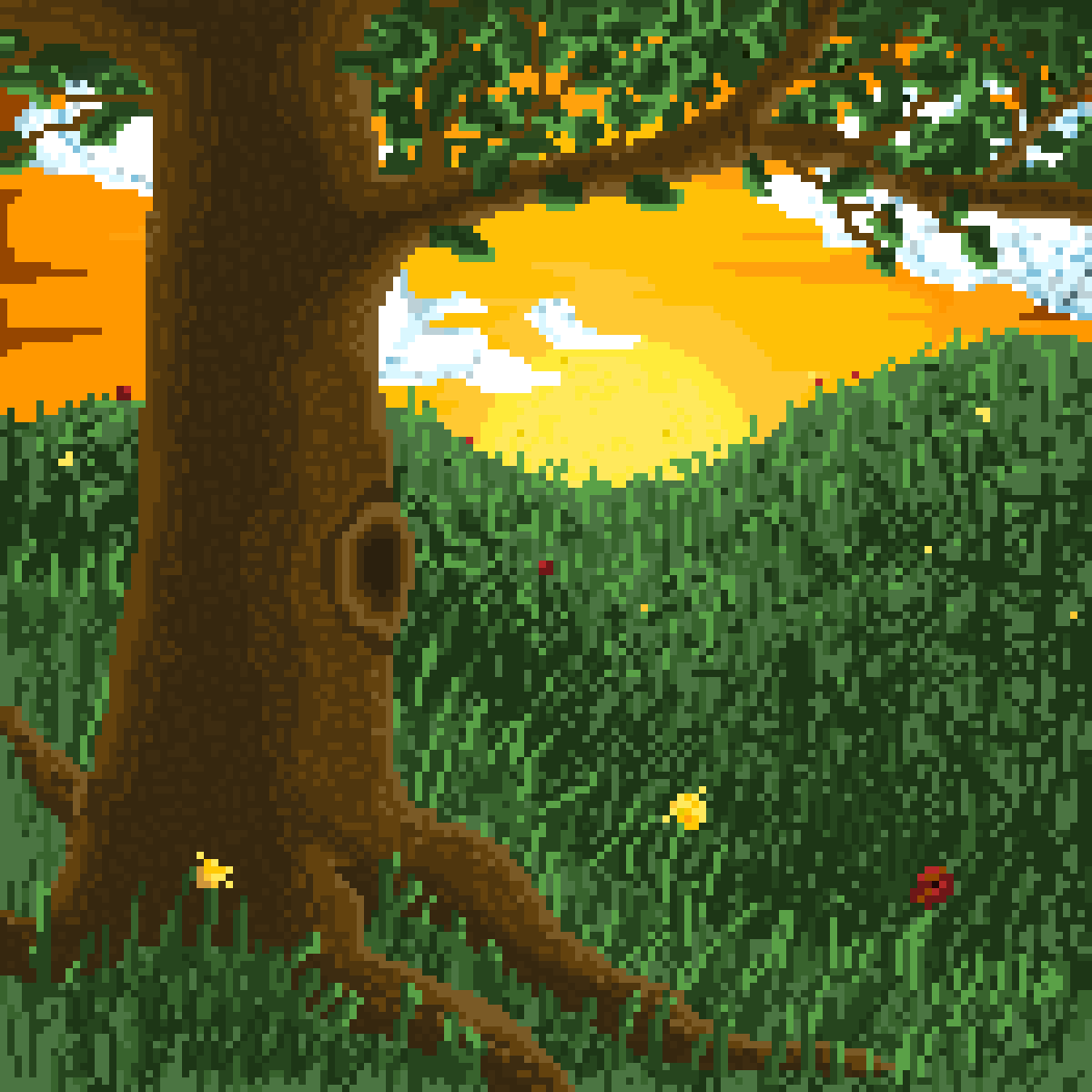 Sunset Oak by Dragonfly8301