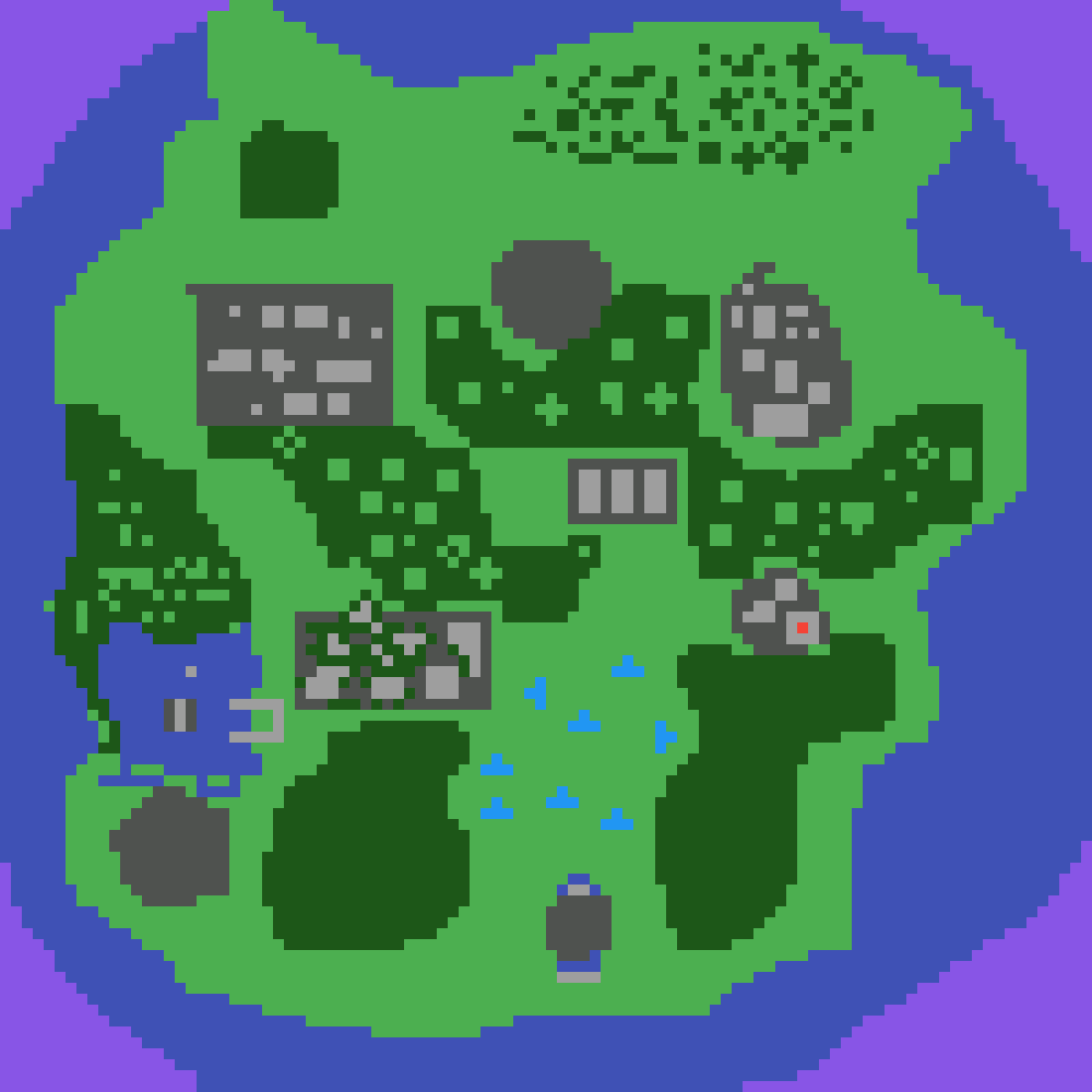 Pixilart  fortnite inspired map by Hill