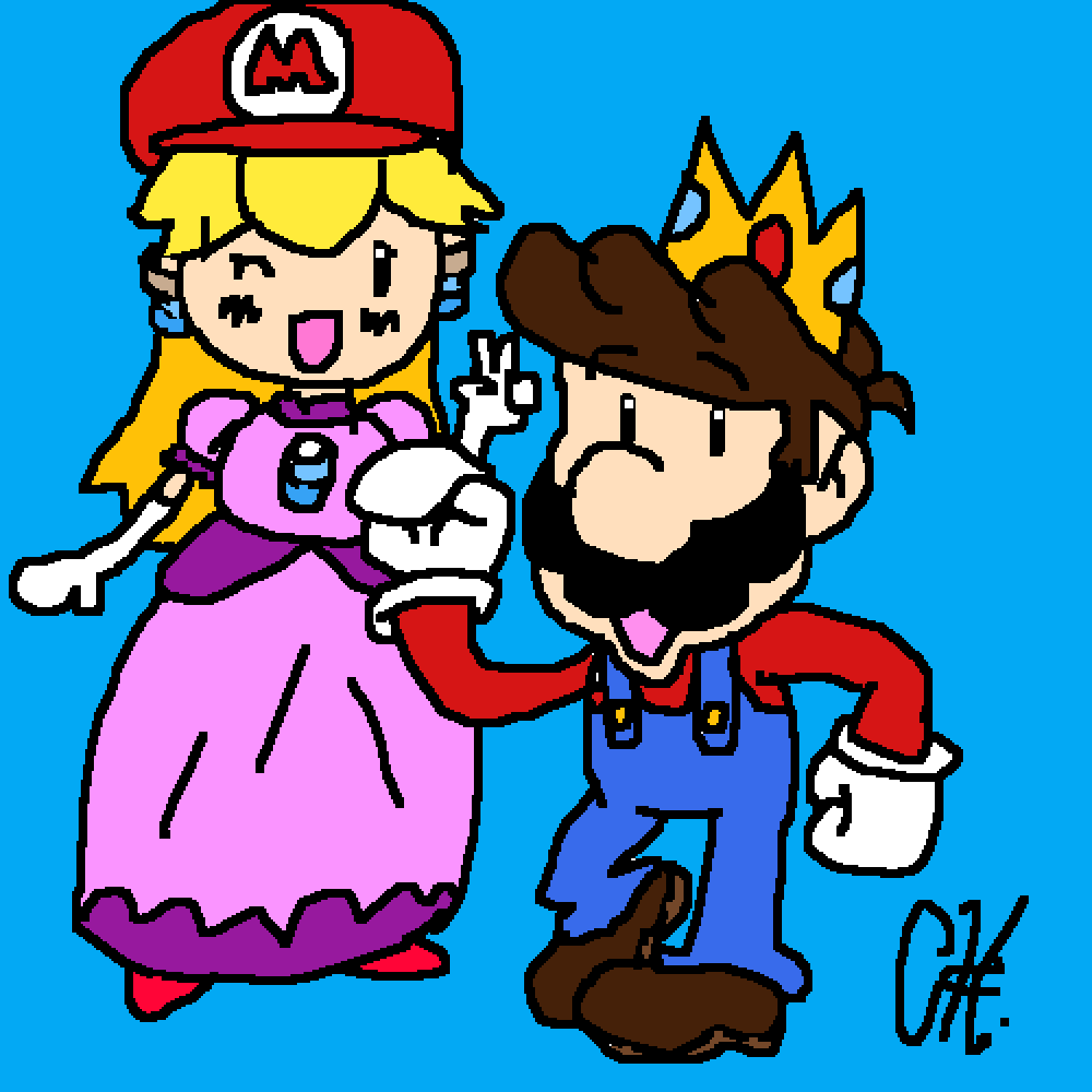 Mario And Peach by ChaotixSW