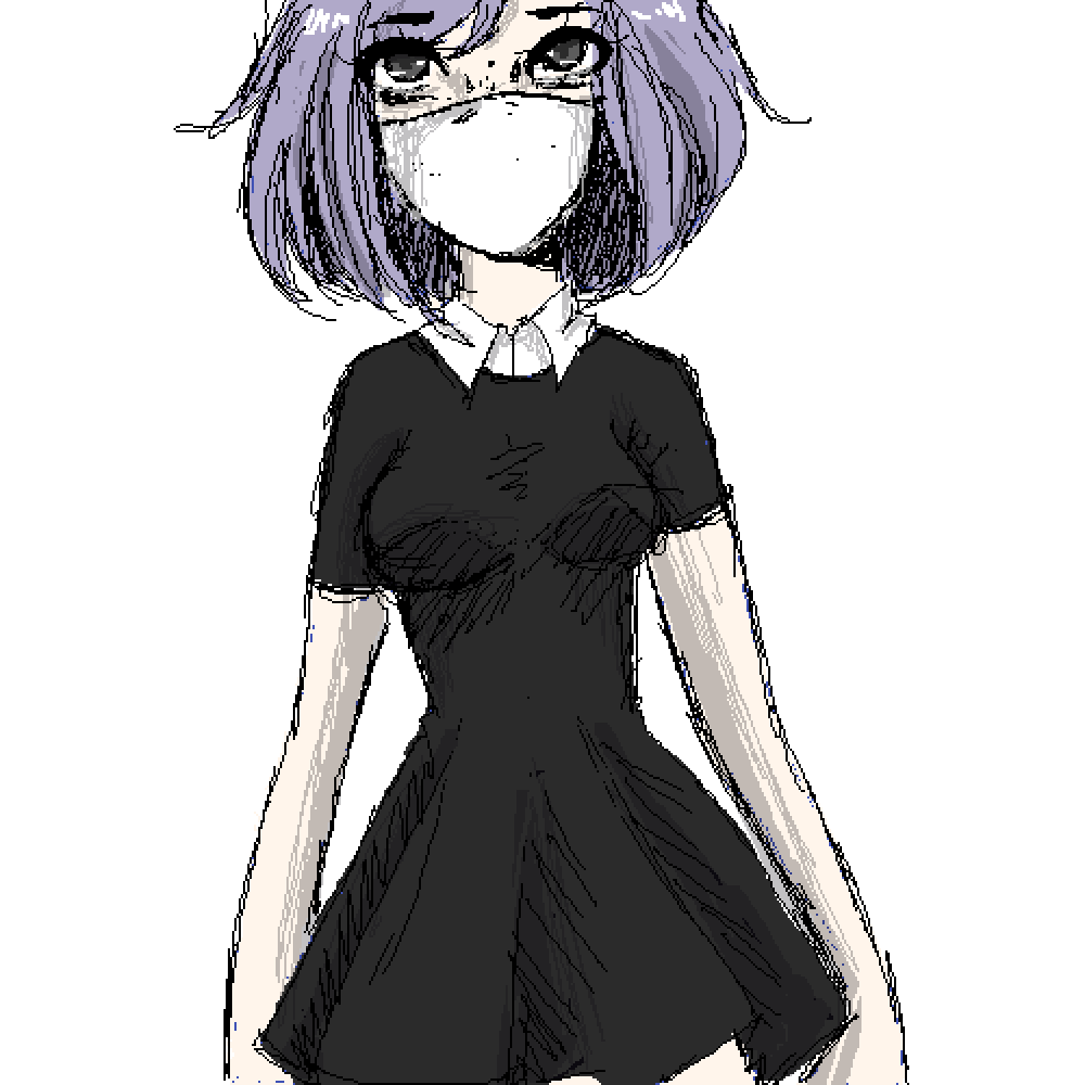 Purple girl by Niffry