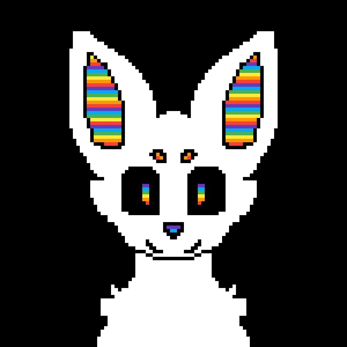 billy the rainbow fox/wolf by dragon-dabber