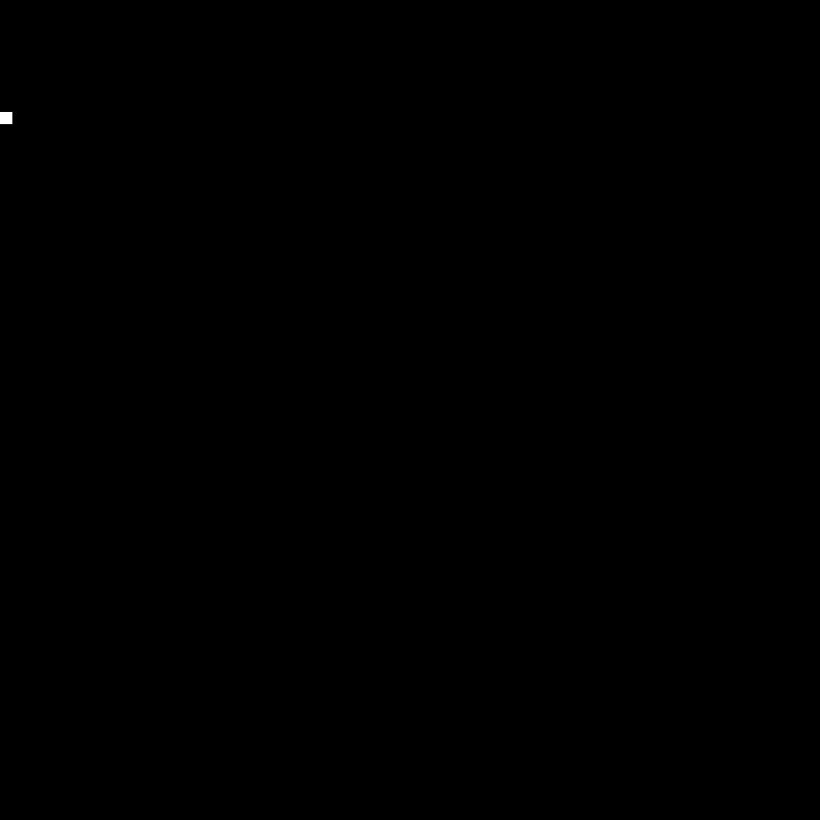 Black and White Circle Font by Kraken15
