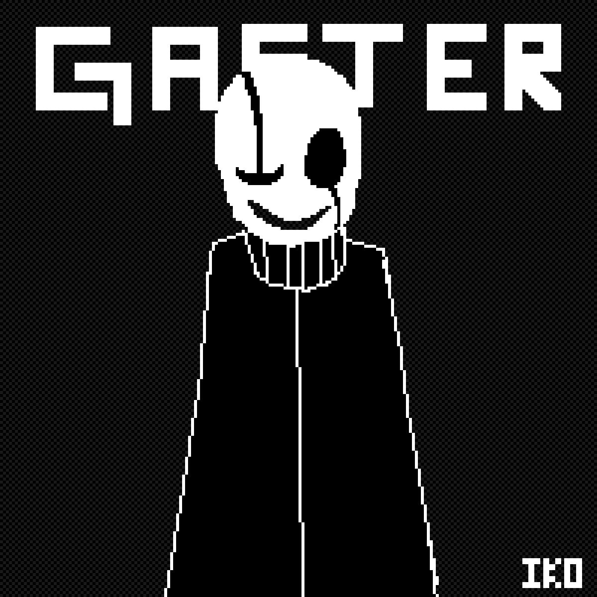 GASTER (Undertale) by IKO-PIXEL-ART
