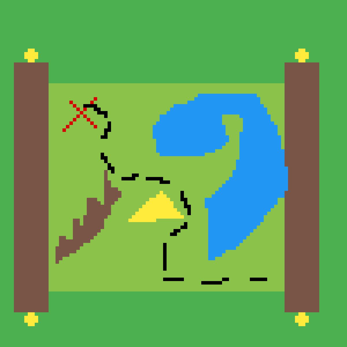 Treasure map by SlinkyWizard628