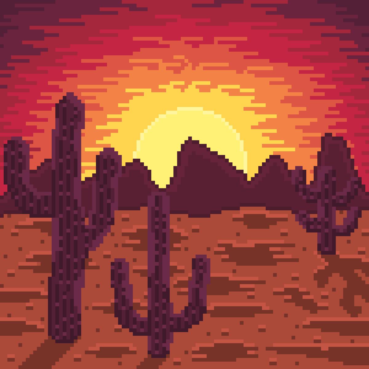 Desert Sunset by Thoo