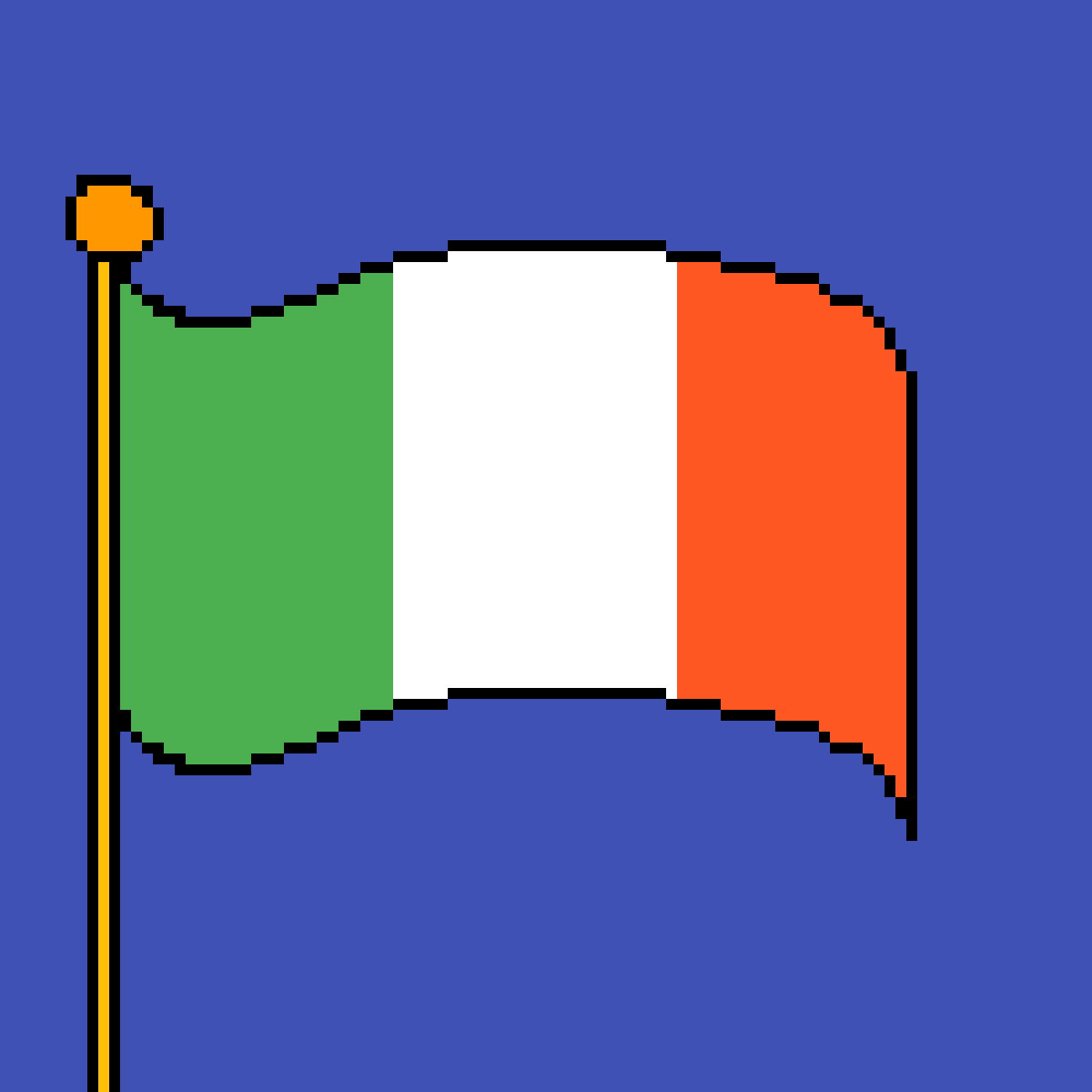 The flag of Ireland by poison-darts317