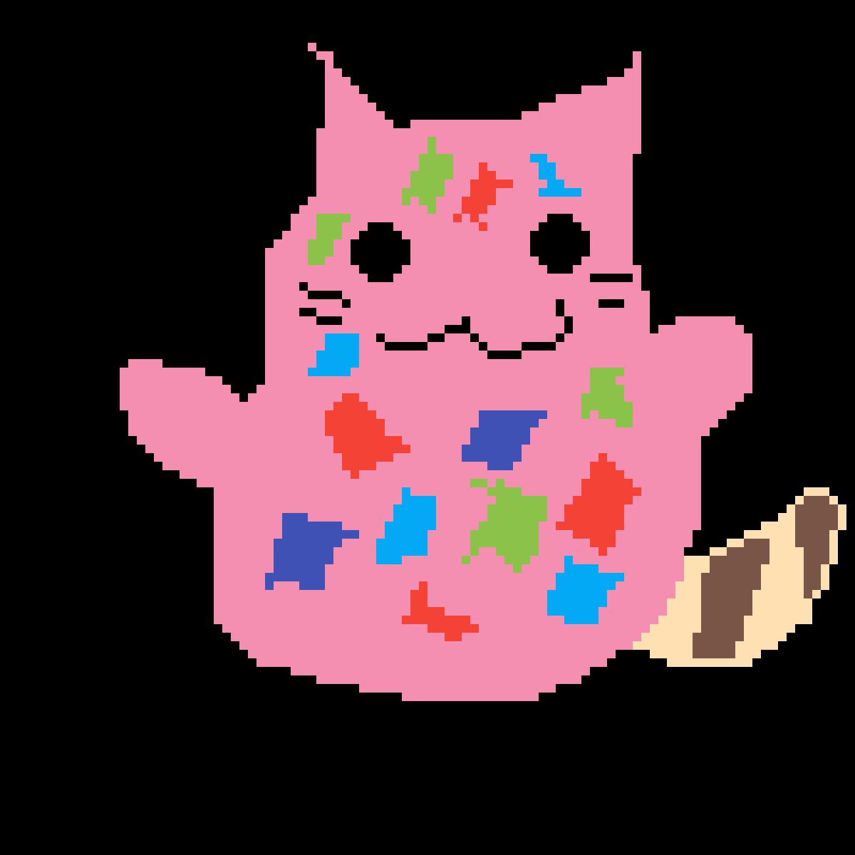 Confetti cat by Glitchtrap
