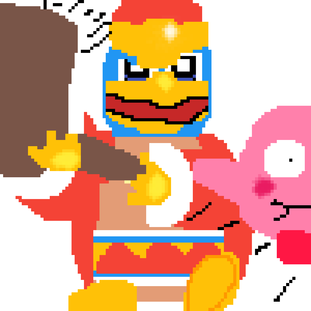 Time to clobber that there kirby!