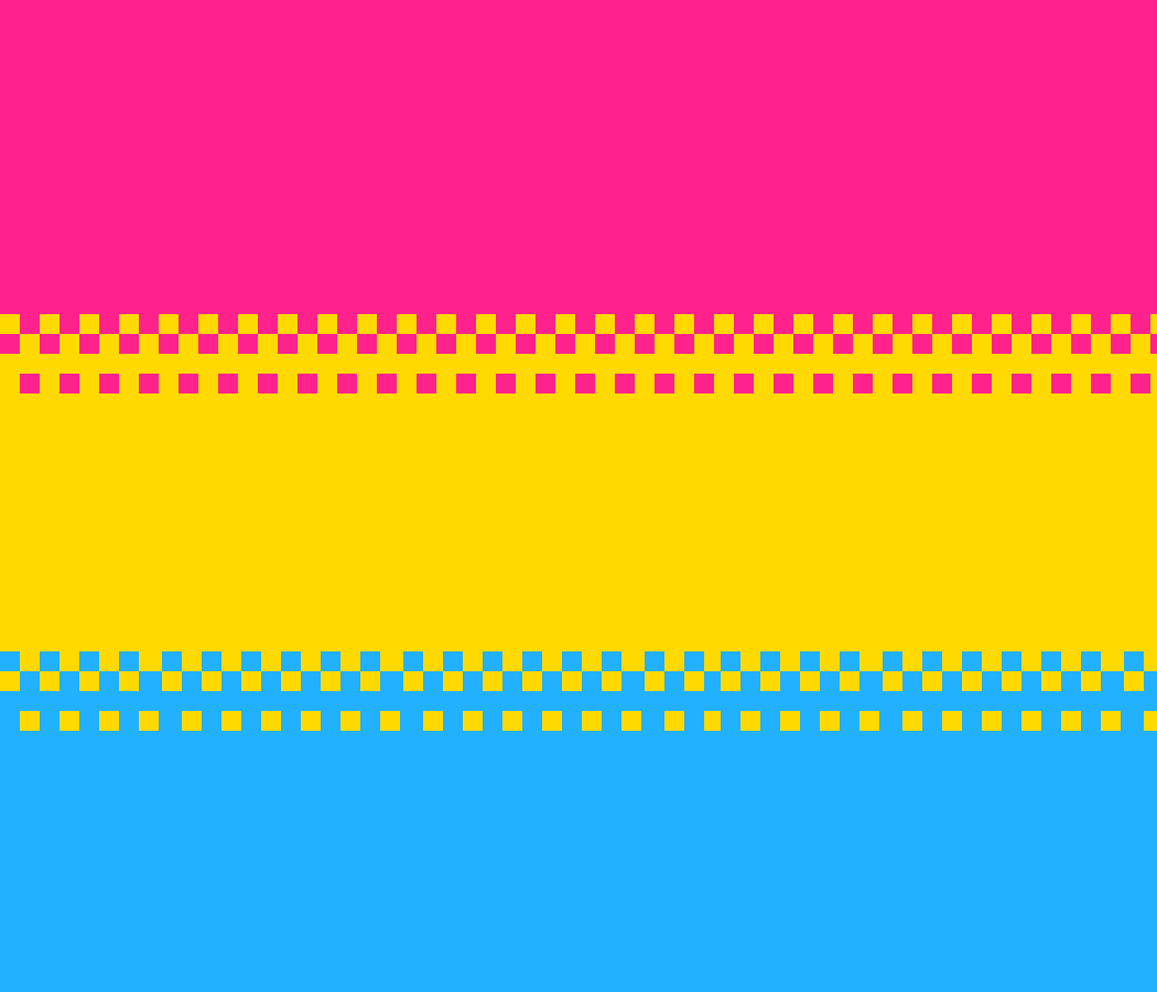 Pan flag (Non saturated verson) by QueerAesthetic