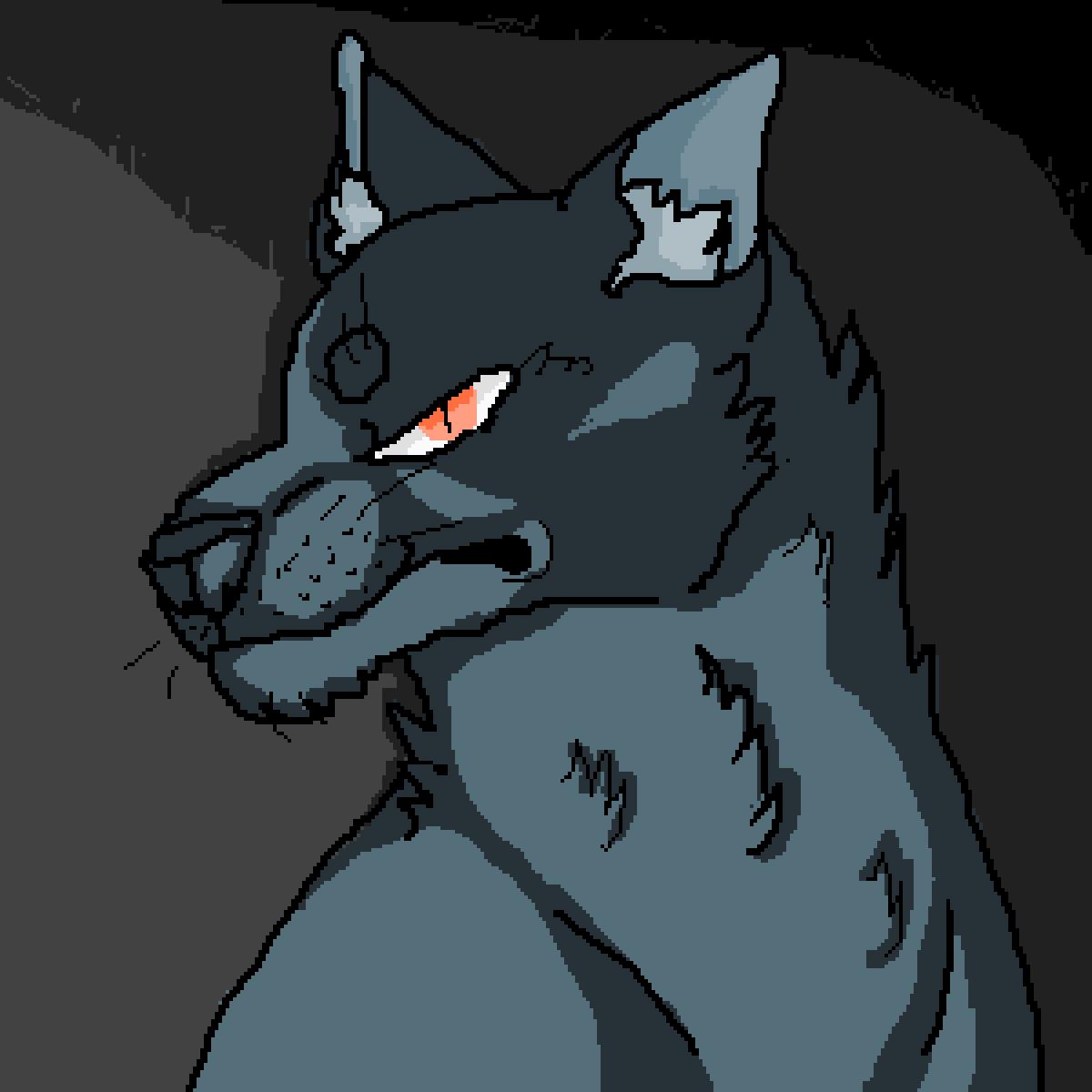 blue dog by Sad-Toast