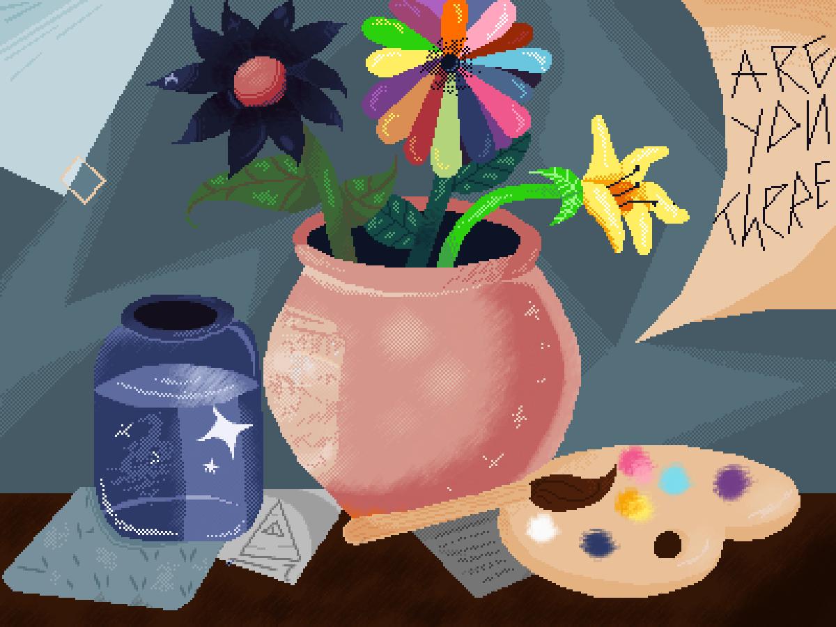 Artist's table by InnaDrawer