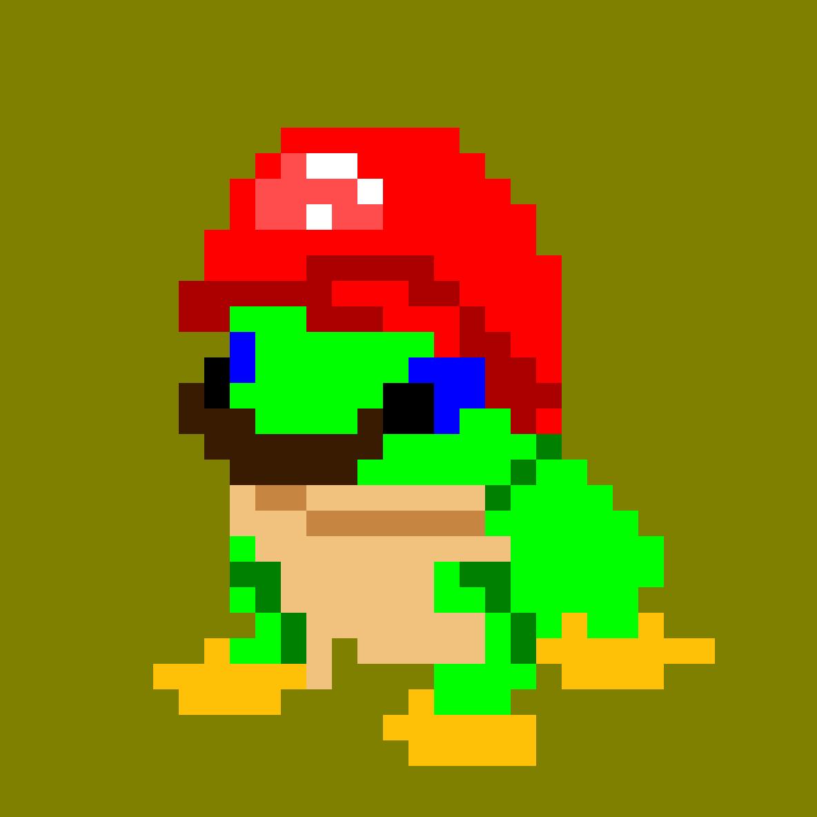 Pixilart Super Mario Odyssey Frog By Irondogmlg