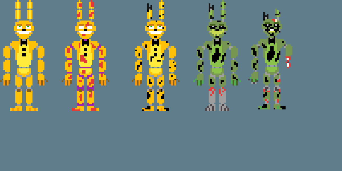 Spring Bonnie Forms by srg050907