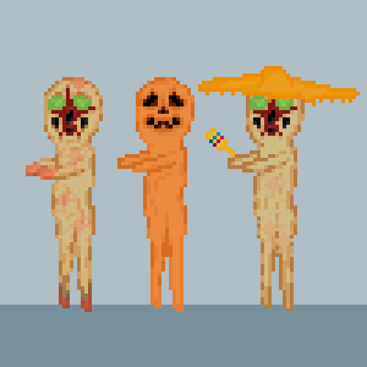 Some variants of SCP-173 by SCPpixel