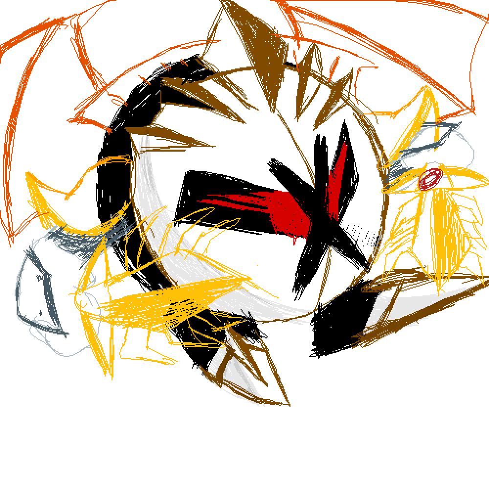 Parallel meta knight but it's a skech of my version  by Seamaster
