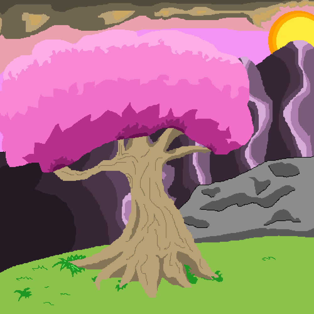 pink tree by Caboose
