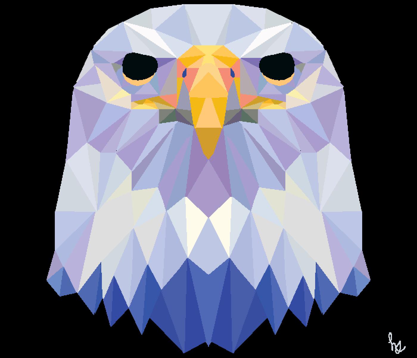 Geometric Animals: Eagle by Horizon-Studios