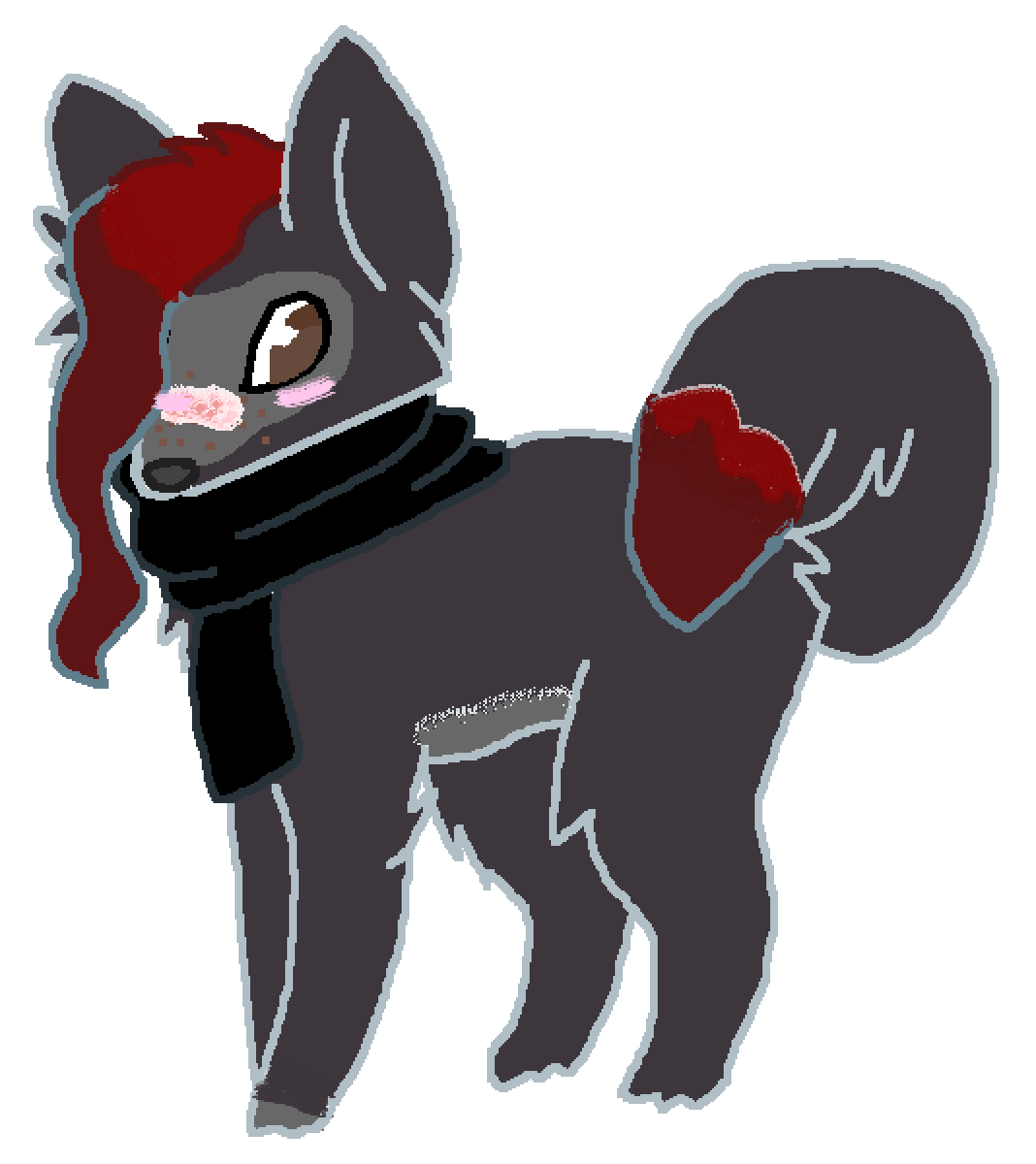 main-image-me as a wolf  by eyeless-alexia