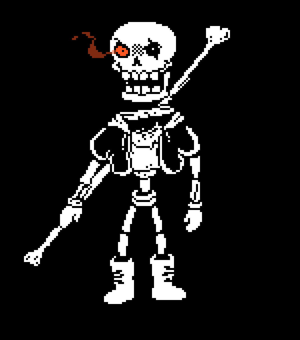 Pixilart - Disbelief Papyrus Hard Mode Phase 1 by ZoobTheGamer
