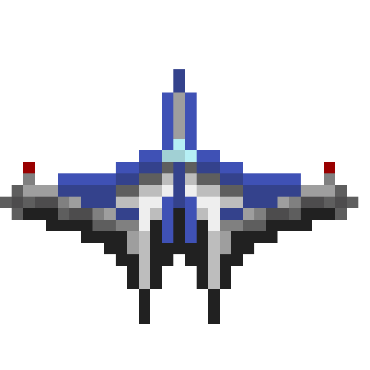 Blue Spaceship #1 by Faciane