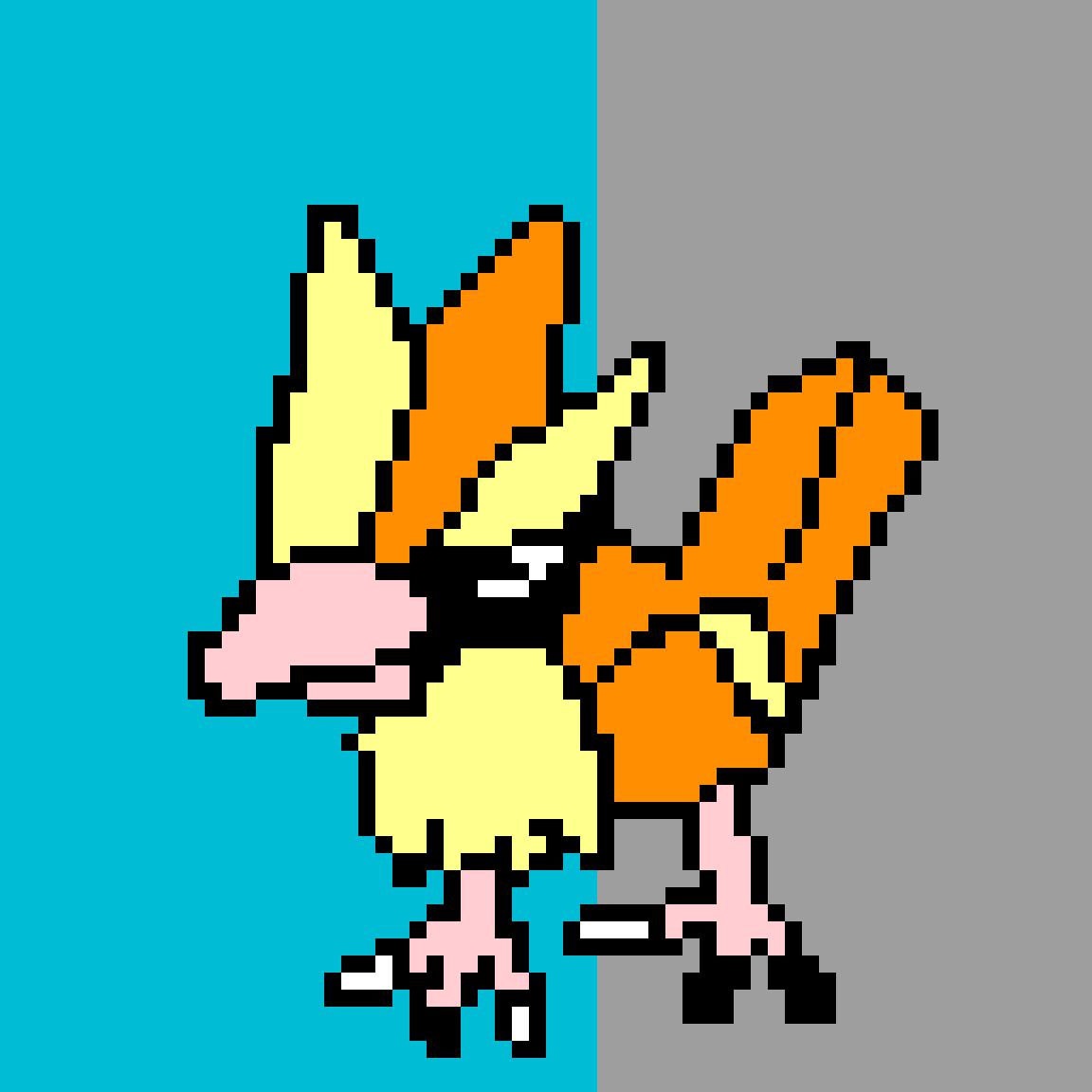 Pokemon Sprite #16 Pidgey by NerdyBoy13