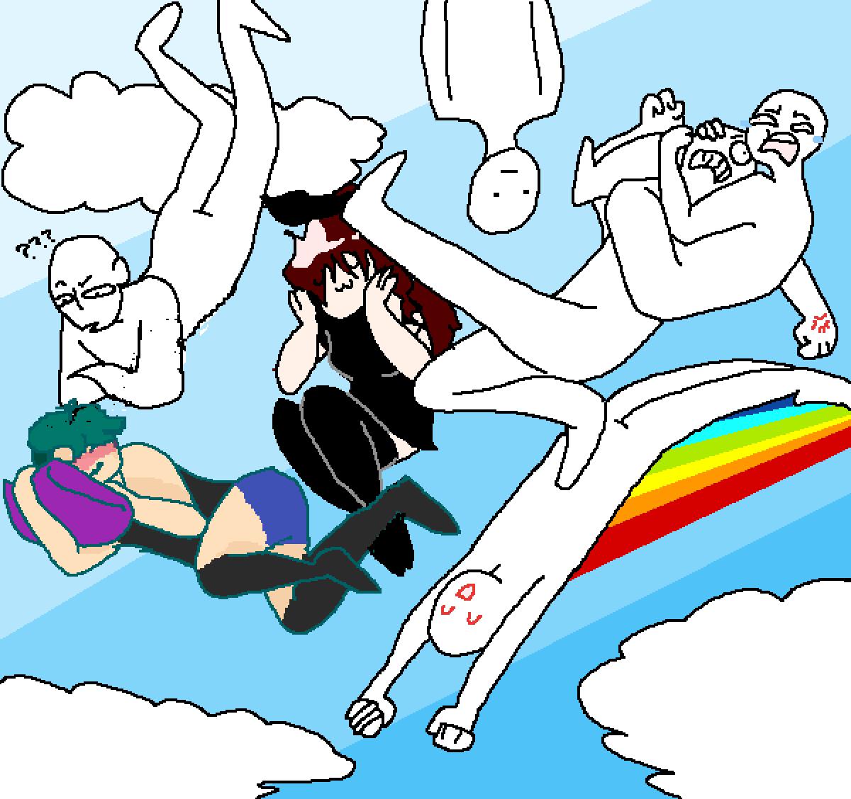 Flying in the sky by WarriorTrash