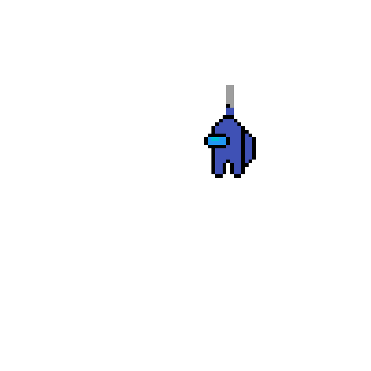 Pixilart Blue Hide Knife Among Us By Mrmustard