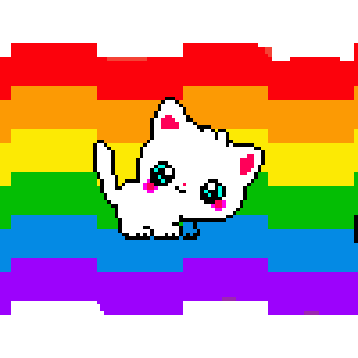 The cat on a rainbow by kaelyn-the-best