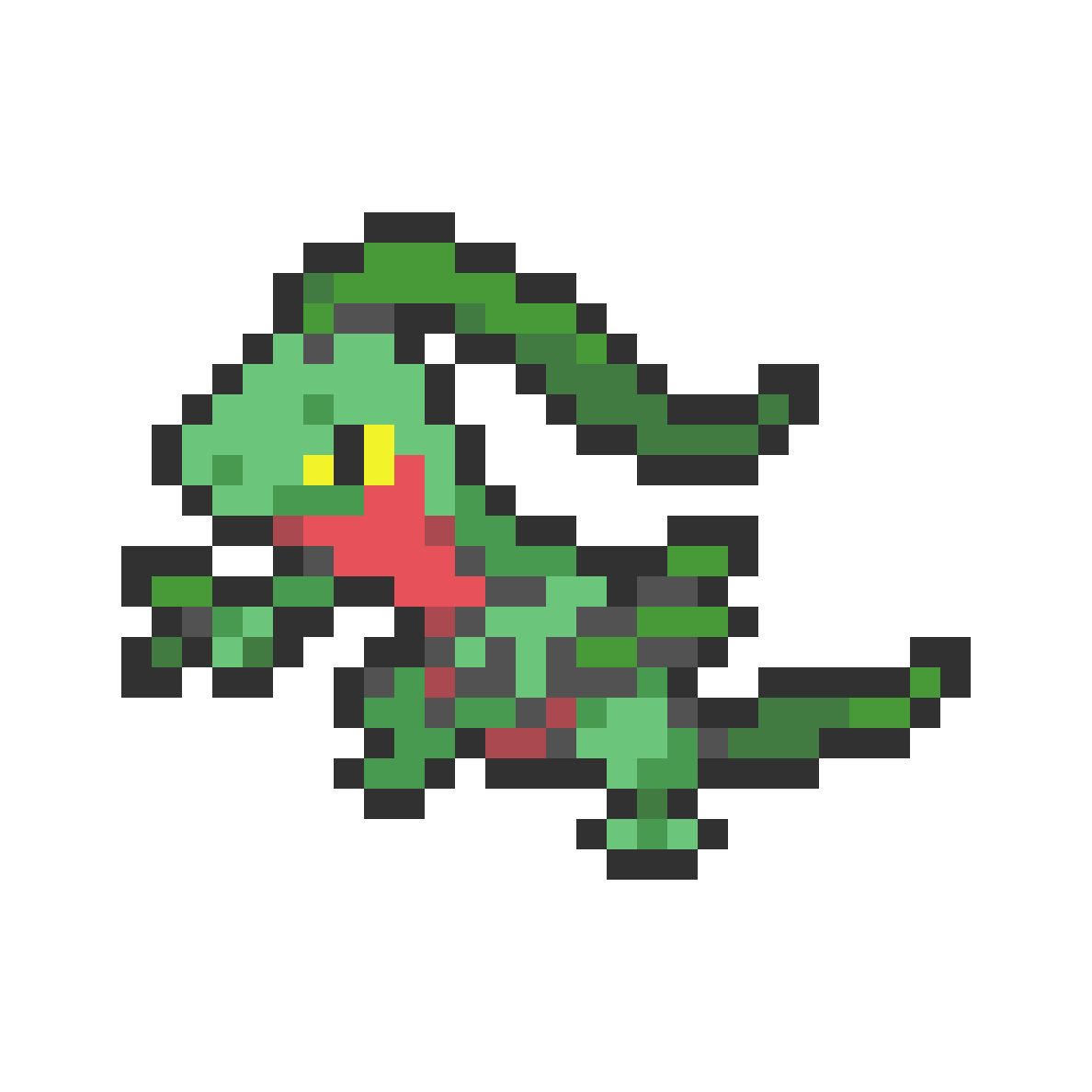 main-image-#253 Grovyle Mini Sprite  by Andruru
