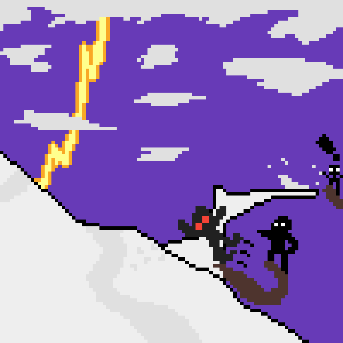 Sledding in a thunder storm by Giovanni-Reen